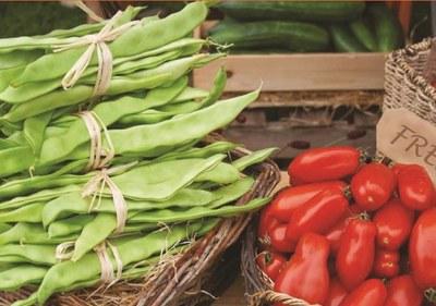 pois, tomates et haricots