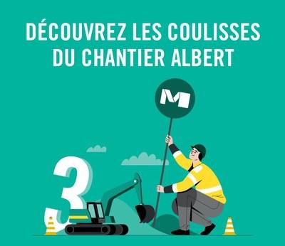 STIB Chantier Albert FR