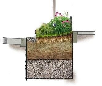 eau   coupe jardin de pluie