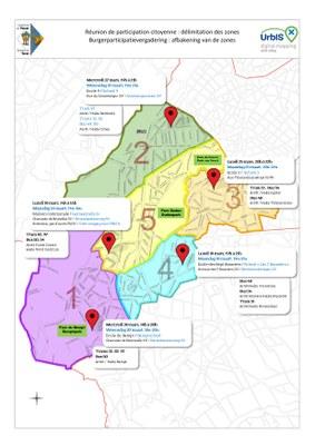 Plan rencontres citoyennes mars 2019 map burgerdialoog maart 2019