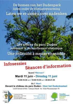 Affiche séance d'information 11 juin arbres Duden