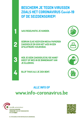 poster 4 hygienische maatregelen NL