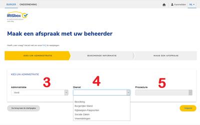 Prise de RDV en ligne écran 2 NL